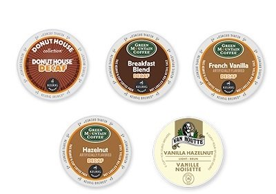 30-Count All Decaf K-Cup Variety Sampler Pack (5 Flavors, 6 K-Cups Each) front-581071
