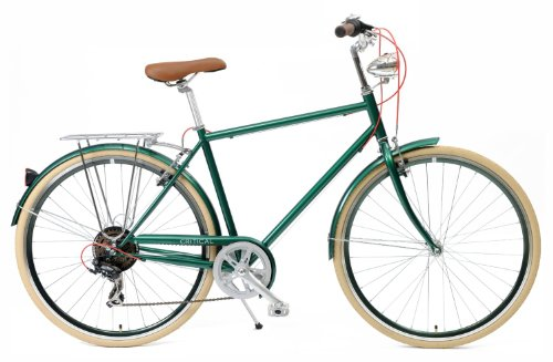 Best Deals! Critical Cycles Diamond Frame 7-Speed Shimano Hybrid Urban Commuter Road Bicycle
