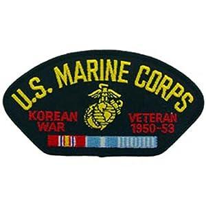 "U.S.M.C. Korean War Veteran Hat Patch 2 3/4"" x 5 1/4"""