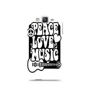Motivatebox - Peace Love Music Samsung Galaxy A7 cover - Polycarbonate 3D Hard case protective back cover. Premium Quality designer Printed 3D Matte finish hard case back cover.