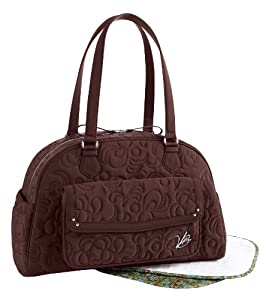 vera bradley vera vera microfiber collection bowler baby bag in espresso brown. Black Bedroom Furniture Sets. Home Design Ideas
