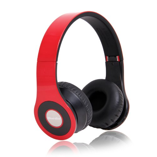 Bluedio Model B - Wireless And Bluetooth Stereo Headphones W/ Fm Radio/ Sd Card-(Red)