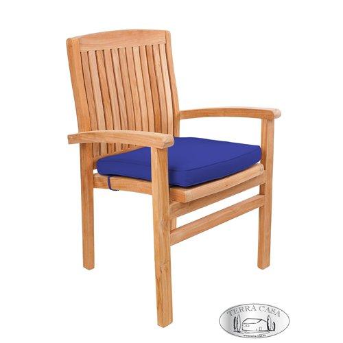 Stuhlauflage MEDAN, Sitzkissen blau, Stuhlkissen, Auflage für Gartenmöbel, Gartenstuhl Premiumqualität günstig online kaufen