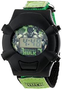 Marvel Kids' HULK020 Incredible Hulk Green Fast Wrap Digital Watch