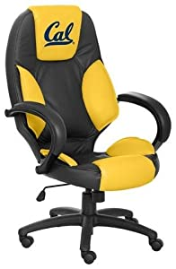 NCAA California Golden Bears Leather Executive Office Chair by Wild Sports