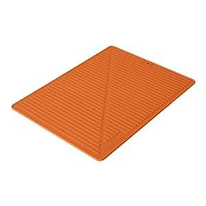Final touch fta1880 6 silicone glass drying mat orange kitchen counter mats - Orange kitchen floor mats ...