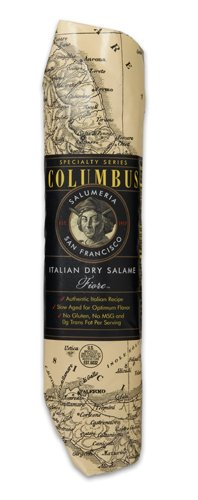Columbus Salame Company Italian Dry Salame 14 Oz. Paper Wrapped