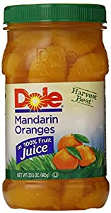 Dole Mandarin Oranges, 23.5 Ounce Jars (Pack of 8)