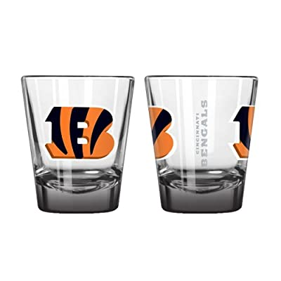 NFL Cincinnati Bengals Elite Shot Glass Set (2-Pack), 2-Ounce
