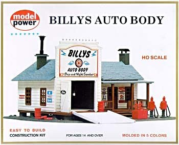 Auto Body Shop Building Kit HO Scale Model Power