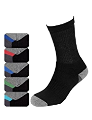 5 Pairs of Cotton Rich Sole Design Sports Socks