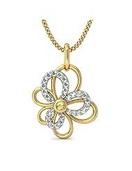 BlueStone 18K Yellow Gold Diamond Pendant
