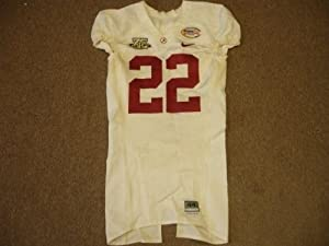 2008 DJ Hall Alabama Crimson Tide Independence Bowl Game Used College Jersey #22 by Hollywood+Collectibles