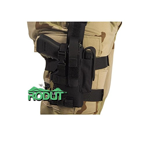 Rodut (TM) Adjustable Right Handed Tactical Leg Holster For Pistol, Black