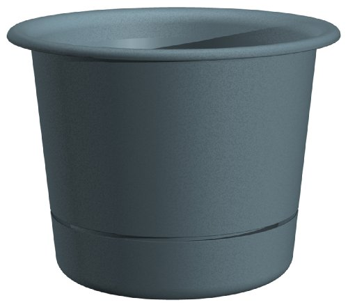 Dynamic Design Ws0812Bh Westbury 8-Inch Poly Planter With Attached Saucer, Blue Heaven