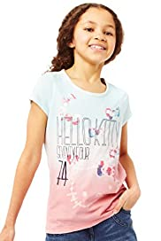 Hello Kitty Pure Cotton Dip Dye T-Shirt