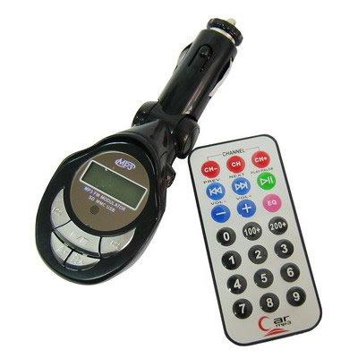 AUTO iPOD & MP3 LETTORE CON MODULATORE FM/TRASMETTITORE/CON TELECOMANDO - 206 FM CANALI - SUPPORTA CHIAVETTA USB, SD MMC & ACCETTATE, 3,5 mm JACK DI INGRESSO