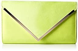 Aldo Varina Envelope Clutch, Light Yellow, One Size