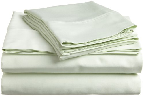 Impressions Genuine Egyptian Cotton 300 Thread Count Full 4-Piece Sheet Set Solid, Mint back-1067765