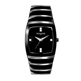 Wittnauer Black Ceramic Diamond Mens Watch 12D03