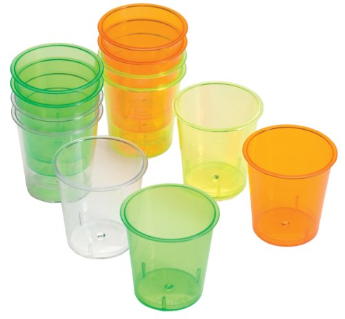 Progressive Housewares GT-7147 1 Oz Assorted Neon Mini Cups