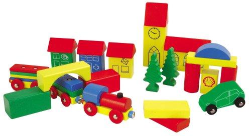 Imagen principal de HEROS 100027181 - Juego de 32 bloques de madera