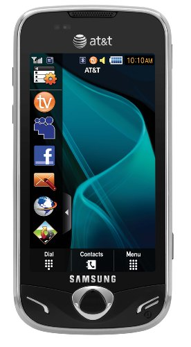 Samsung Mythic A897 Unlocked Phone With Touch Screen, 3.2 Mp Camera And 3G Support - Us Warranty - Black
