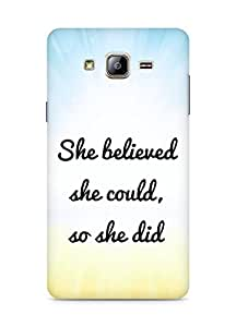 AMEZ she believed she could so she did Back Cover For Samsung Galaxy ON5