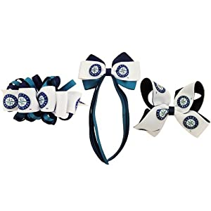 MLB Seattle Mariners French Barrette Collection by USA Licensed Bows