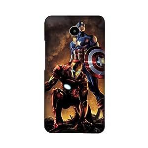 YU YUNICORN Designer Printed Covers (YU YUNICORN Back Cover) - Iron Man Captain America