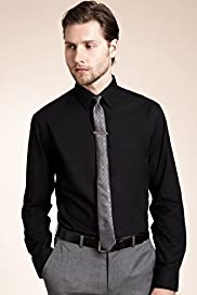 "2"" Longer Slim Fit Limited Collection Plain Poplin Shirt"
