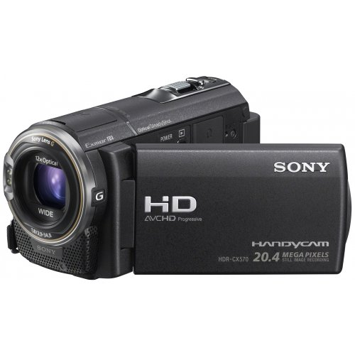 Sony Handycam CX570 Full HD Flash Memory Camcorder - Black (20.4MP, 12x Optical Zoom) 3 inch LCD