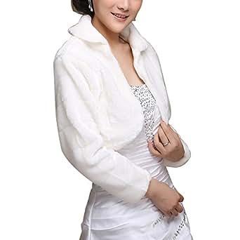 Janecrafts fausse fourrure des femmes chaud robe chale cap for Robe et manteau pour mariage d hiver