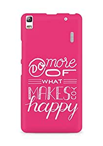 AMEZ do more of what makes you happy Back Cover For Lenovo K3 Note