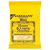 Jakemans Minis Honey & Lemon Menthol Soothing Menthol Sweets 25g x Case of 10