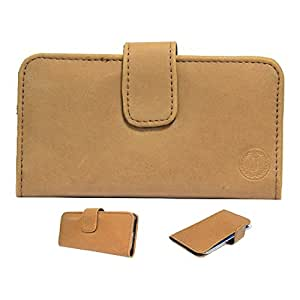 Jo Jo A8 Nillofer Leather Carry Case Cover Pouch Wallet Case For Sony Xperia sola Tan