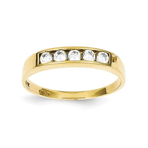 10k Yellow gold CZ Polished Child's Ring