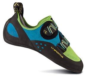 Katana Grün / Blau, vielseitiger Herren Kletterschuh, Schuhe zum Sportklettern