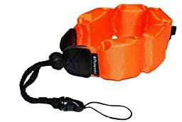 Polaroid Floating Wrist Strap Orange for Underwater Waterproof Cameras Camcorders Housings