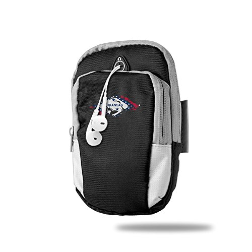 GTSOXI Sports Armband - Arkansas Flag Logo Sports Outdoor Cellphone Armband Bag - Best For Running, Sports And Workout (Arkansas Basketball Tickets compare prices)