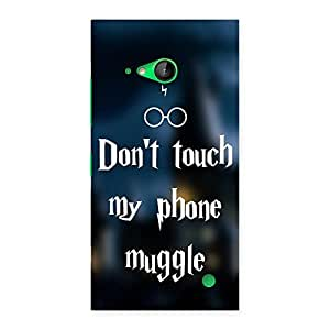 Gorgeous Dont Touch Back Case Cover for Lumia 730