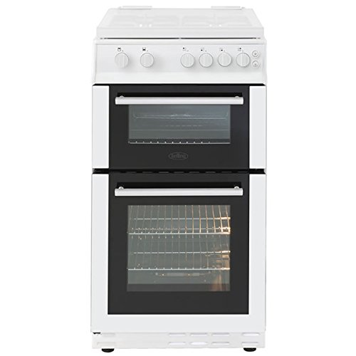 Belling FS50GTCLW 500mm Twin Cavity Gas Cooker 4 x Burner Gas Hob White