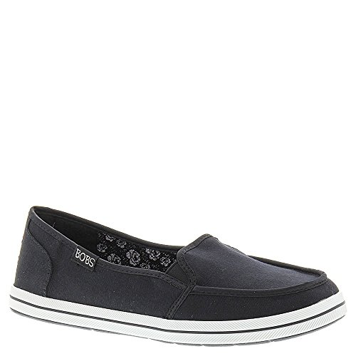 BOBS from Skechers Women's Flexy-Kick Start Flat, Black, 8 M US (Bobs Shoes Womens compare prices)