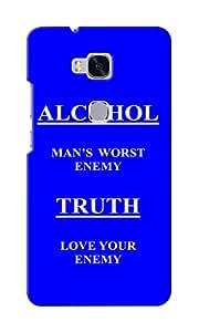 KnapCase Alcohol Truth Designer 3D Printed Case Cover For Huwaei Honor 5X