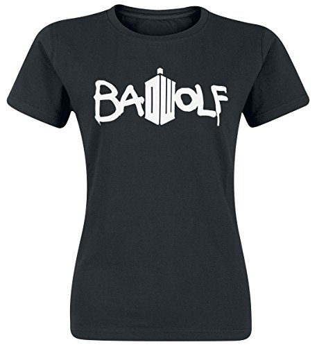 Doctor Who Bad Wolf Maglia donna nero XL