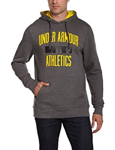 Under Armour Herren Sweatshirt EU CC Big Logo Hoody, grau/gelb (90), M (MD)