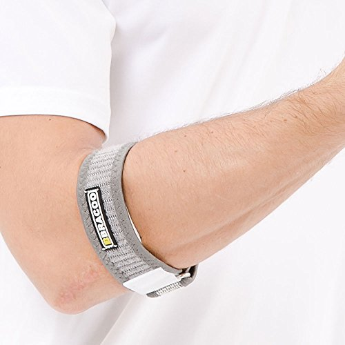 bracoo-medical-grade-tennis-golf-elbow-strap-with-quality-eva-pad-one-size-gray