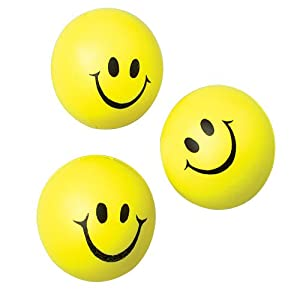 Happy Face Squeeze Balls (Pack of 24)