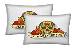 Sleep Nature's Skull Printed Pillow Covers