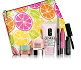 Clinique Gift Set Travel Set inc Chubby Stick, All About Eyes, Moisture Surge, Quickliner, Mascara, Cleanser, Makeup Bag